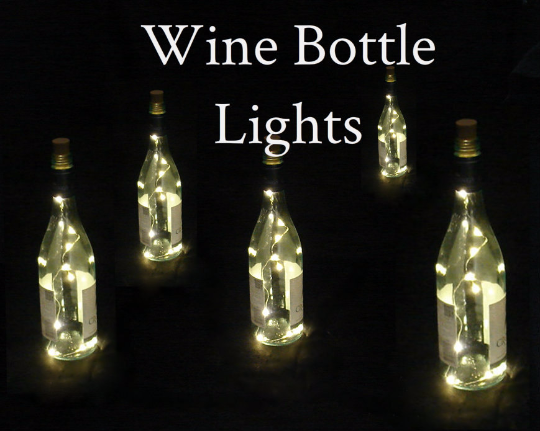 Fairy Lights For Wine Bottles Warm White Led S On Copper
