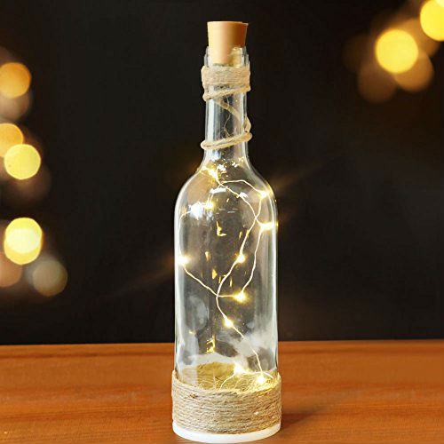Fairy Lights For Wine Bottles Warm White Led S On Copper