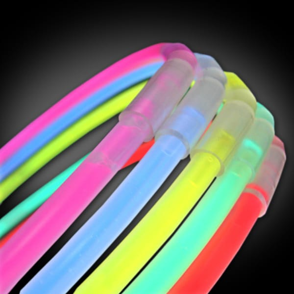 50 Assorted Glow Necklaces glow necklaces, chemical glow necklaces, assorted solid color glow necklaces, assorted one-color glow necklaces, assorted wholesale glow necklaces, School, Pep Rally, Glow Golf